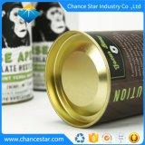 Kundenspezifisches metallisches Kappen-Schokoladen-Paket-rundes Papiergefäß