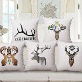 Ropa de algodón impresos feliz ciervos 45x45cm cuadrados funda de cojín (35C0259)