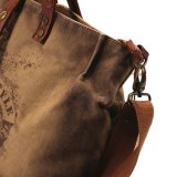 Vintage уникальная кожа мужчин Canvas бизнес сумки через плечо