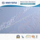Tissus 100% bleus de matelas de polyester de couleur