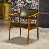 Cadeira de madeira elegante usada cafetaria do braço do café do restaurante (SP-EC626)