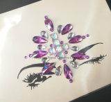 Moda 2018 pasado en el pecho de cristal de diamante Autoadhesivos adhesivo en el pecho de Rhinestones Sticker (SR-43)