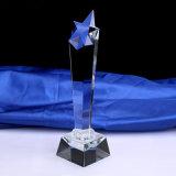صنع وفقا لطلب الزّبون بلّوريّة غنيمة نجم زخرفيّة زجاجيّة مكافأة [سبورت فنت] تذكارات يمنح [أنّول ميتينغ] لون موسيقى غنيمة