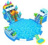 Jogo inflável dos esportes de água do parque do Aqua do tema do oceano para ao ar livre