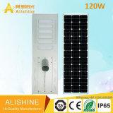 120W todo en uno/integró la luz de calle solar del LED con la batería de litio LiFePO4