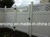 Hot Sale avec treillis en vinyle de haute qualité panneaux de clôture de la vie privée