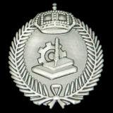Oro che antico in lega di zinco del distintivo del collare polizia militare del metallo dell'esercito americano Badge (CB40412)