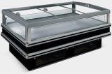 Porta de vidro corrediço de alta qualidade Island congelador para supermercado (DG-30)