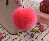 2017 Многоцветный фо цепочки ключей Pompom меха мех шаровой шарнир