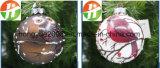 크리스마스 LED 크리스마스 유리 빛을%s 장식 올빼미를 가진 10cm 크리스마스 유리제 공