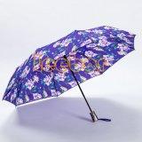 عادة زهرة يطبع رخيصة يطوي سيادات مظلة