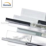 Tira de los patrones de lujo en aluminio gris claro mosaico de vidrio mezcla