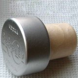 Hellgrüne Aluminiumspitzenschutzkappen-synthetischer Wein-Korken
