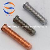 M5*30 revestimento de cobre de Aço Carbono (PT) do parafuso com rosca ISO13918