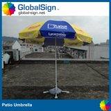 Bekanntmachen Strand-Regenschirmesun-des Zoll gedruckten Sonnenschirm-Patio-Regenschirmes