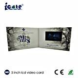 5 pulgadas - tarjeta video de la boda de la alta calidad del folleto romántico de la invitación