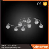 8 بصيلة [لد] كرة أرضيّة باهرة زجاجيّة مدلّاة ضوء مصباح