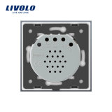 Interruptor de control de tacto estándar Vl-C702W-31/32 de la cortina de la UE del lujo de Livolo
