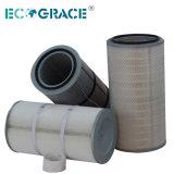 Medios de filtro de polvo de cartucho de filtro colector de polvo