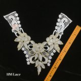 ожерелье Hme967 шнурка отделяемого ворота платья ворота Петер Пан ворота белого вязания крючком 37*31cm Linen