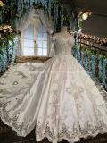 Атласный свадебные платья собора поезд Strapless дворец свадьбы