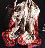 90X90 Cm foulard satin de soie personnalisé pour dame