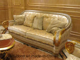 Sofá real clásico de la tela del estilo de madera sólida Sb55