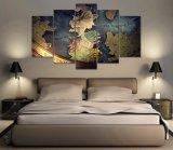 Moderner Hauptwand-Kunst-Dekor-Rahmen-modulare Abbildung 5 Stücke der Anime-Drache-Kugel-Erbschaft-HD Druck-Malleinwand-für Wohnzimmer