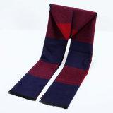 冬の暖かい点検された縞の印刷の厚く編まれた編まれたスカーフ(SP801)のような人の可逆カシミヤ織