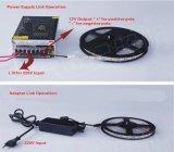 Hohes Streifen-Licht des Lumen-SMD335 60LED/m 4.8W/M der Seitenansicht-12V flexibles Cuttable LED
