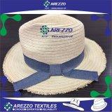 Sombrero de papel de la playa de la paja de las mujeres (AZ030)