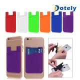 Téléphone mobile en silicone Wallet détenteur de carte de crédit Pocket vignette adhésive