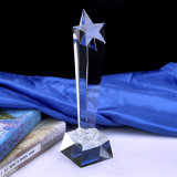 Trofeo de cristal personalizado Premio Estrella de cristal decorativo recuerdos para eventos deportivos en reunión anual de música Premios trofeo