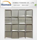Tuile matérielle en verre Shinning intérieure de souterrain de mosaïque de Brown de Chambre biseautée