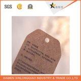 Étiquette faite sur commande de coup de papier de Brown emballage d'impression offset pour le vêtement