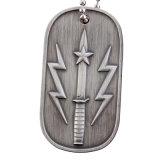 Etiqueta de perro antigua militar del metal de encargo (XD-0706)