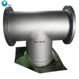 Литые стальные ANSI T промышленного типа тройник фильтр фильтр для обслуживания