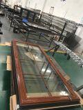 O Casement de madeira Windows de vidro e as portas, enfrentar/parte externa/vertical articularam-se/balanços abertos