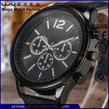 Il classico della cinghia di cuoio del ODM guarda l'orologio del quarzo delle signore (WY-P17012A)