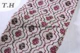 2017 милых драпирований ткани софы жаккарда цветков 360 GSM