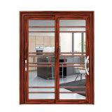 Алюминиевая раздвижная дверь двухгусеничного для дома Duluxe