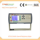 Medidor de resistência DC multicanal exibindo 10 canais simultaneamente (A5110)