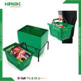 Panier à provisions en plastique de main de système de commerce de détail