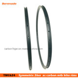 "A bicicleta do carbono roda a borda 28 H do carbono de Hookless de 26 da "" bordas do carbono bicicleta 24 milímetros de largura"