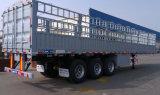 Cimc半低下の側面の平面高い塀のトラックのトレーラー