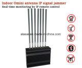 8 bandas sinal móvel interior Jammer Controle Remoto Ethernet