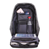 Diebstahlsichere Rucksäcke USB-aufladenmann-Wirtschaftsschule-Rucksack für Jugendlich-Laptop-Beutel