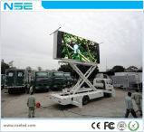 P10 LED carretilla alquiler de móviles al aire libre de publicidad