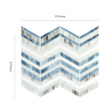 Мозаика стекла плитки стены ванной комнаты конструкции искусствоа декоративная