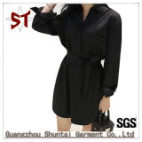 Signora all'ingrosso Casual Straight Shirt Dress con la cinghia